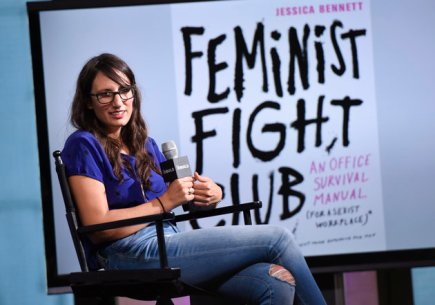 "NEW YORK, NY - SEPTEMBER 13: Journalist Jessica Bennett attends the BUILD Series presents Jessica Bennett discussing her new book ""Feminist Fight Club"" at AOL HQ on September 13, 2016 in New York City. (Photo by Matthew Eisman/Getty Images)"